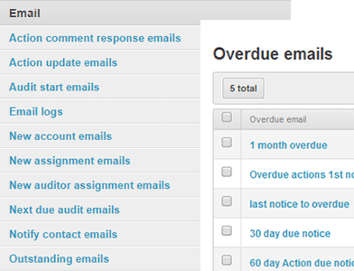 automated email notifications