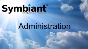 Symbiant admin training