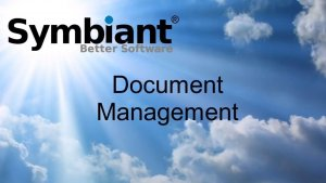 Symbiant document manager