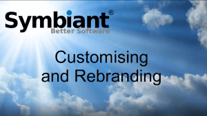 Customising and rebranding Symbiant